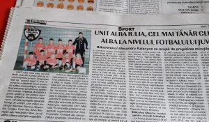 UNIT Alba Iulia…în paginile de sport ale ziarului Unirea! VEZI AICI o galerie foto-video cu micuții pregătiți de Alex Kalanyos!