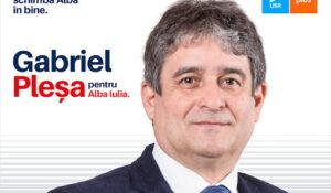 """Gabriel Pleșa, candidatul alianței USR-PLUS pentru Primăria Alba Iulia: """"Voi transforma administrația locală în una care susține sportul și investește în infrastructura sportivă!"""""""
