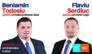 Beniamin Todosiu, președinte USR Alba: Flaviu Serdiuc, un antreprenor care a trăit mai mulți ani în Diaspora, candidatul Alianței USR – PLUS la Primăria Cugir!