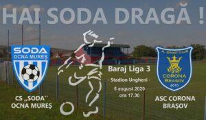 Astăzi, , CS Ocna Mureș – Corona Brașov (LIVE pe youtube) iar mâine amical CS Hunedoara – Unirea Alba Iulia!