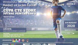 """Mâine, la baza sportivă """"Winner's Club Țălnar"""" din Alba Iulia, Cupa CTC Store – turneu de fotbal pentru copii, primul în condiții de pandemie!"""
