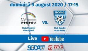 Astăzi, de la ora 17.30 (în direct pe canalul de youtube al clubului), CS Ocna Mureș – CS Viitorul Gheorgheni!