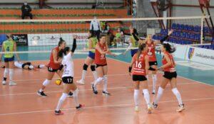 CS Medgidia – Volei Alba Blaj 0-3! 4 din 4, victorii, pentru campioana Volei Alba Blaj în Divizia A1 la volei feminin!