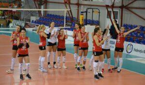 În primul meci al turneului 2 din turul Diviziei A1 la velei feminin, CSM Volei Alba Blaj – Rapid București 3-2!