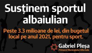 Primarul Gabi Pleșa anunță INVESTIȚII în sportul din Alba Iulia!