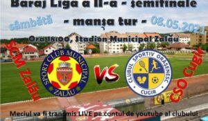 Mâine, de la ora 18.00, SCM Zalău – CSO Cugir!